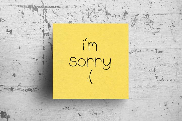 saying sorry